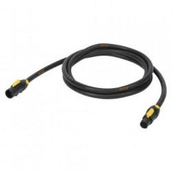 Powercon kabel 2,5M | 3x1,5 mm² Titanex | POWERCON TRUE - POWERCON TRUE