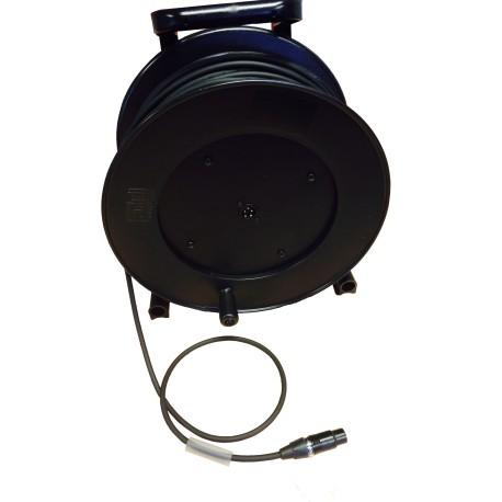 StageCon GT310 Haspel met 75Mtr Microfoonkabel 2x 0,34mm2