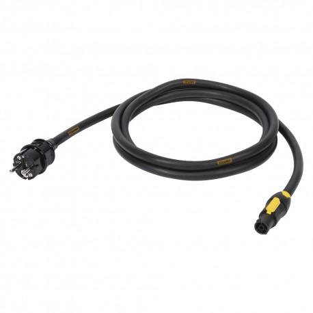 Powercon kabel 2,5M   3x1,5 mm² Titanex   SUCCO - POWERCON TRUE