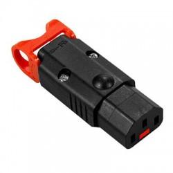 IEC Lock C13 Female kabeldeel | Recht